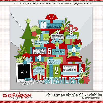 Cindy's Layered Templates - Christmas Single 22: Wishlist by Cindy Schneider