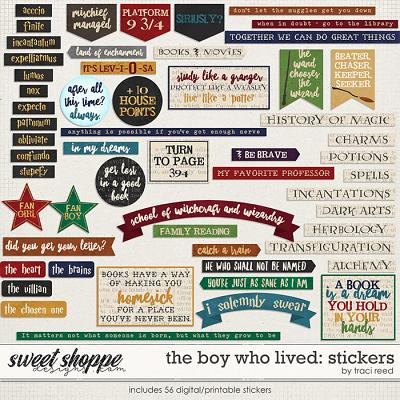 The Boy Who Lived: STICKERS by Traci Reed