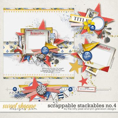 SCRAPPABLE STACKABLES No.4 | by The Nifty Pixel & Lynn Grieveson Designs