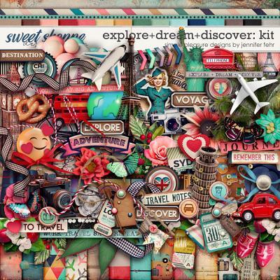 explore+dream+discover kit: simple pleasure designs by jennifer fehr