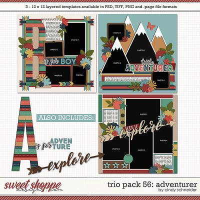 Cindy's Layered Templates - Trio Pack 56: Adventurer by Cindy Schneider