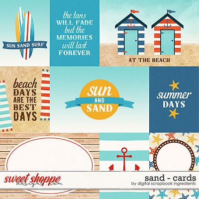 Sand | Cards by Digital Scrapbook Ingredients