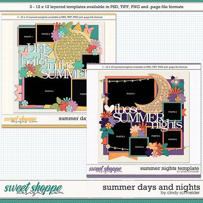 DUO 2 - Cindy's Layered Templates - Summer Days and Nights by Cindy Schneider