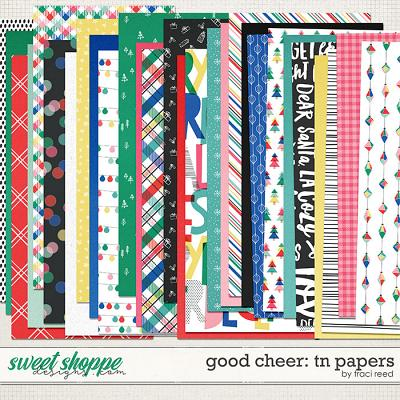 Good Cheer Traveler's Notebook Papers by Traci Reed