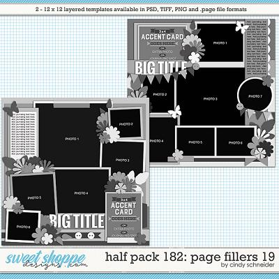Cindy's Layered Templates - Half Pack 182: Page Fillers 19 by Cindy Schneider
