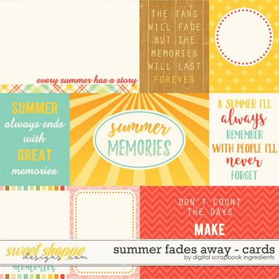 Summer Fades Away | Journal Cards by Digital Scrapbook Ingredients