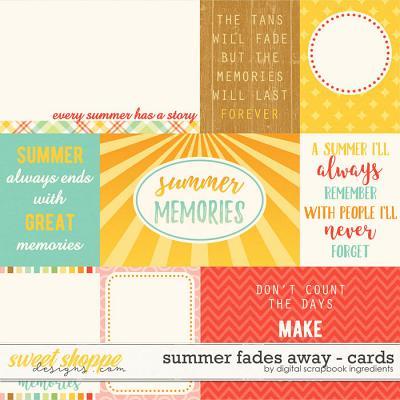 Summer Fades Away | Journal Cards by Digital Scrapbook Ingredients