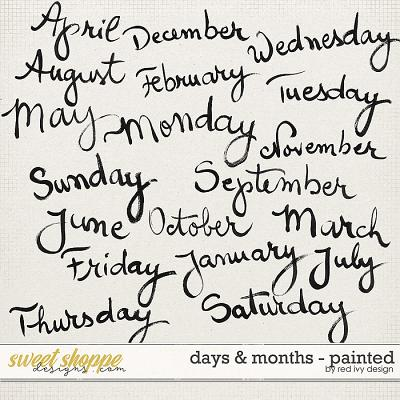 Days & Months - Painted by Red Ivy Design
