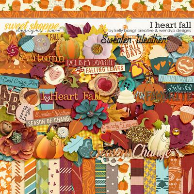 I Heart Fall by Kelly Bangs Creative and WendyP Designs