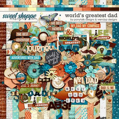 World's greatest dad by Ponytails Designs & WendyP Designs