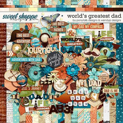 World's greatest dad by Ponytails Designs & WendyP Designs