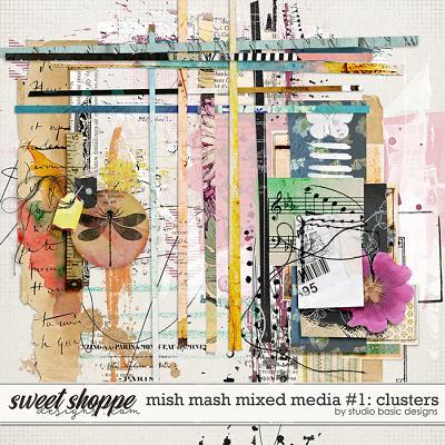 Mish Mash Mixed Media #1 Clusters by Studio Basic