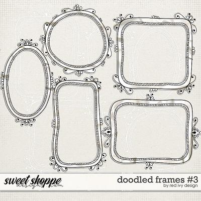 Doodled Frames #3 by Red Ivy Design
