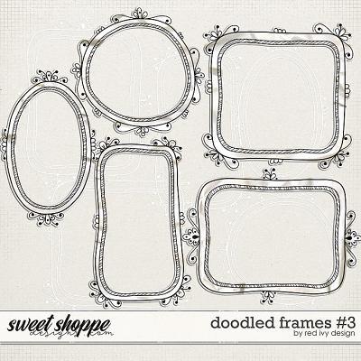 Doodled Frames #3 by Red Ivy Design