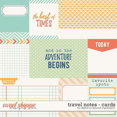 Travel Notes | Journal Cards by Digital Scrapbook Ingredients