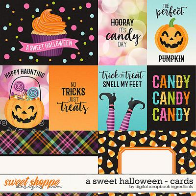 A Sweet Halloween | Cards by Digital Scrapbook Ingredients