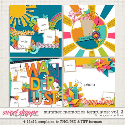 Summer Memories Vol. 2 Templates by Meagan's Creations