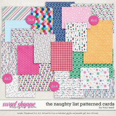 The Naughty List Patterned Cards by Traci Reed