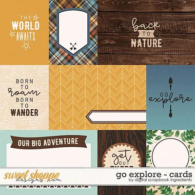 Go Explore | Cards by Digital Scrapbook Ingredients