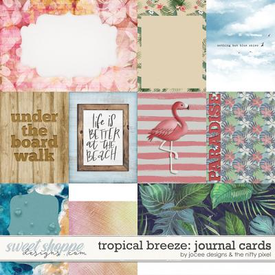 Tropical Breeze Cards by JoCee Designs and The Nifty Pixel