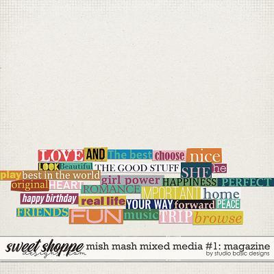 Mish Mash Mixed Media #1 Magazine by Studio Basic
