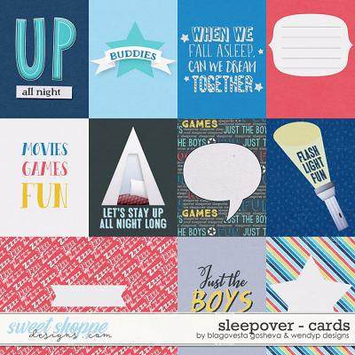 Sleepover {cards} by Blagovesta Gosheva & WendyP Designs