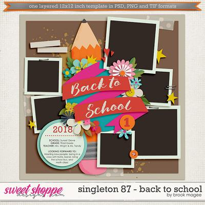 Brook's Templates - Singleton 87 - Back to School by Brook Magee