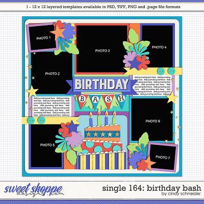 Cindy's Layered Templates - Single 164: Birthday Bash