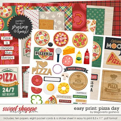 Easy Print: Pizza Day by Blagovesta Gosheva