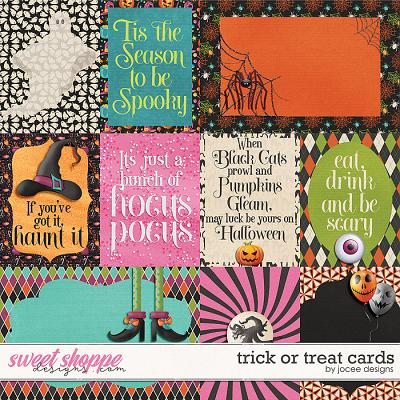 Trick or Treat Cards by JoCee Designs