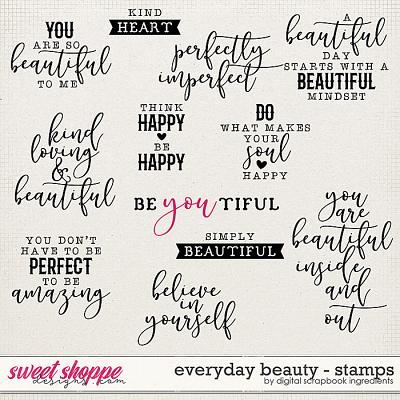 Everyday Beauty | Stamps by Digital Scrapbook Ingredients