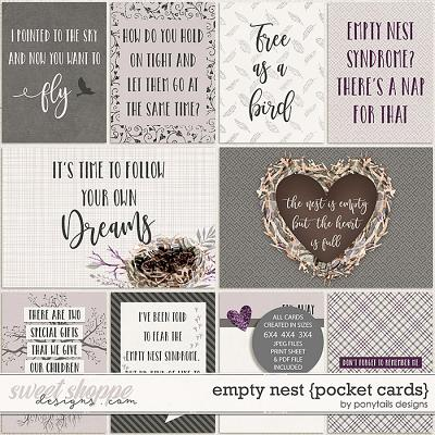 Empty Nest Pocket Cards by Ponytails