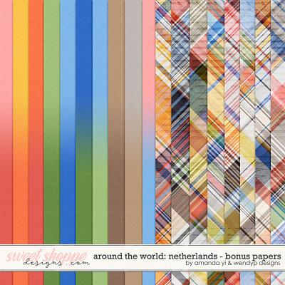 Around the world: Netherlands - Bonus Papers by Amanda Yi & WendyP Designs