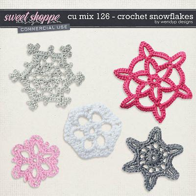 CU Mix 126 - Crochet snowflakes by WendyP Designs
