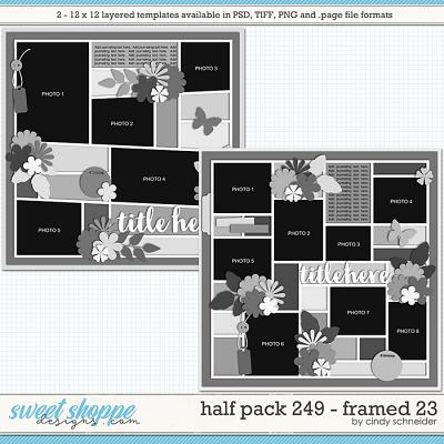Cindy's Layered Templates - Half Pack 249: Framed 23 by Cindy Schneider