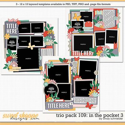 Cindy's Layered Templates - Trio Pack 109: In the Pocket 3 by Cindy Schneider