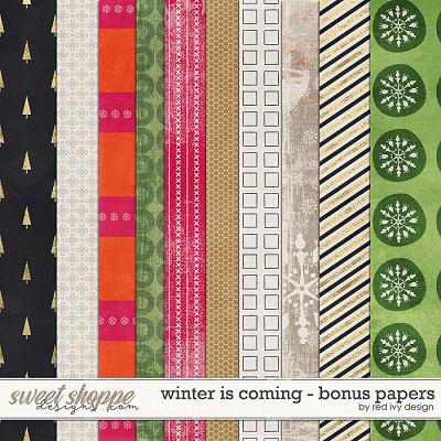 Winter is Coming - Bonus Papers by Red Ivy Design