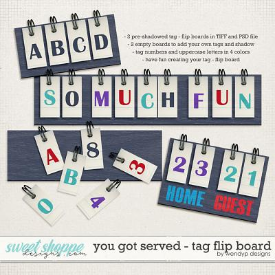 You got served - tag flip board by WendyP Designs