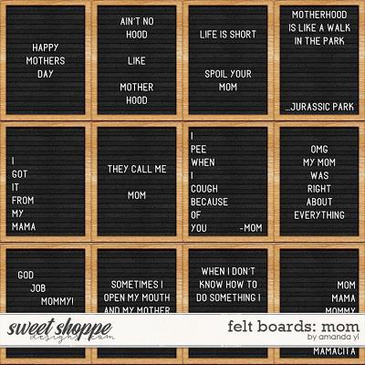 Felt Boards: Mom by Amanda Yi
