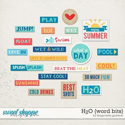 H2O {Word bits} by Blagovesta Gosheva