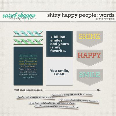 SHINY HAPPY PEOPLE | WORD ART by The Nifty Pixel