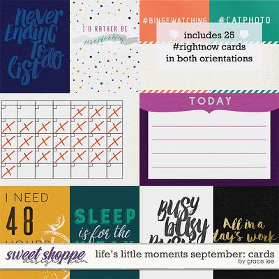 Life's Little Moments September: Cards by Grace Lee