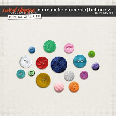 CU REALISTIC ELEMENTS | BUTTONS V.1 by The Nifty Pixel