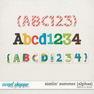 Sizzlin' Summer {Alphas} by Digilicious Design