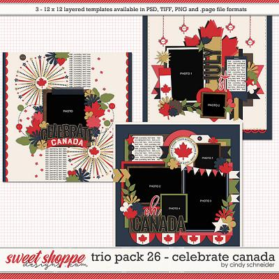 Cindy's Layered Templates - Trio Pack 26: Celebrate Canada by Cindy Schneider