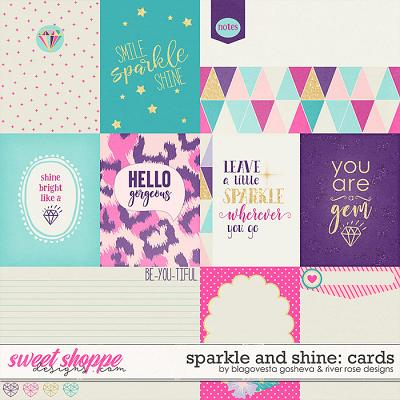 Sparkle and Shine {cards} by Blagovesta Gosheva & River Rose Designs