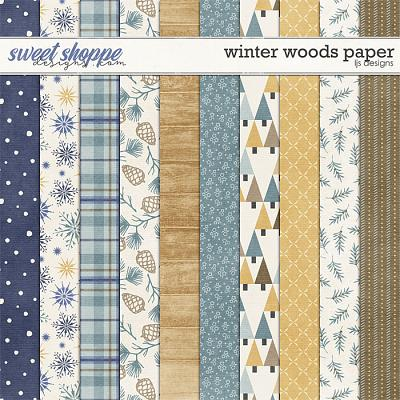 Winter Woods Papers by LJS Designs