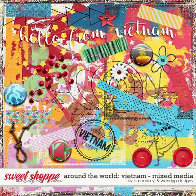 Around the world: Vietnam - Mixed Media by Amanda Yi & WendyP Designs
