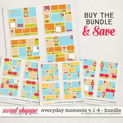 Everyday Moments Templates Vol.1-4 Bundle by Digital Scrapbook Ingredients