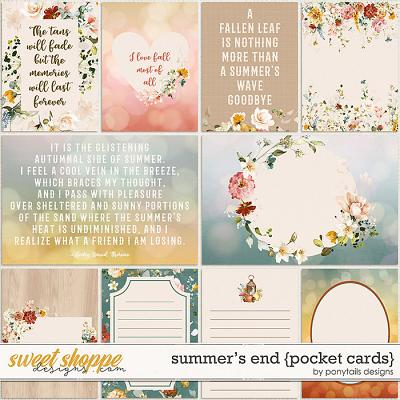Summer's End Pocket Cards by Ponytails